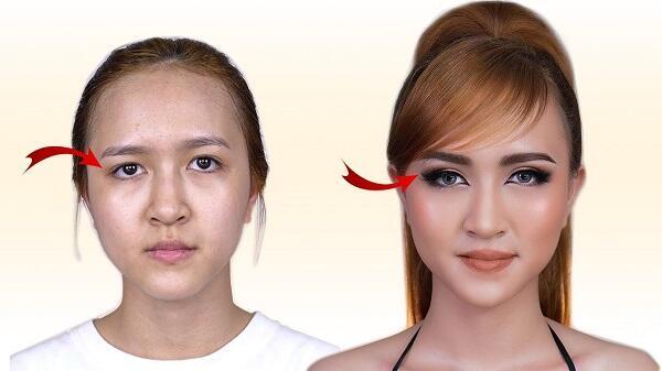 Cách trang điểm cho mắt xệ